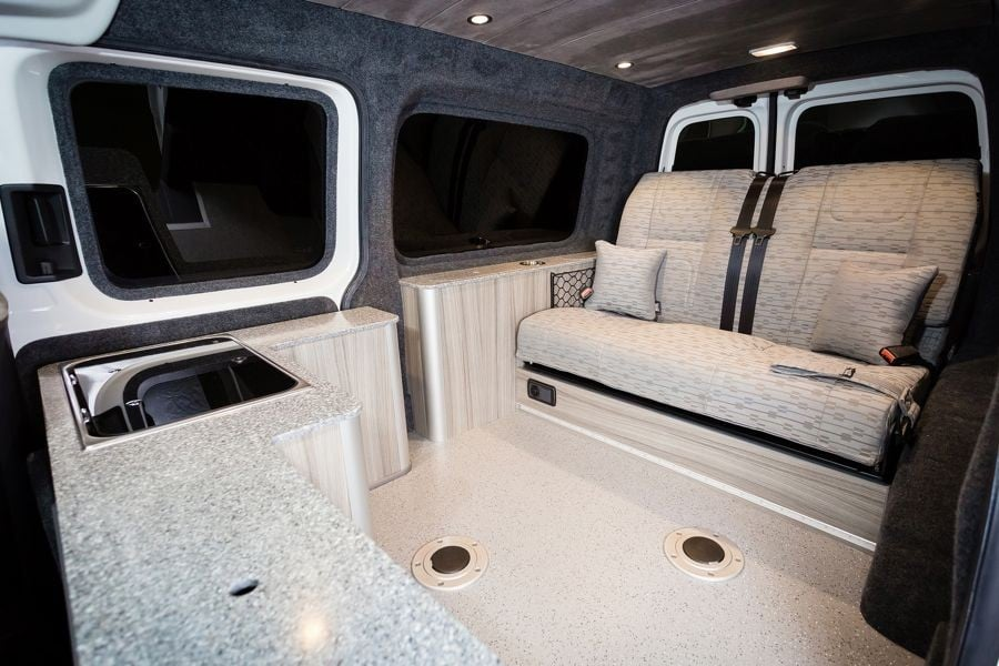 the griffiths 39 caddy maxi camper conversion new wave. Black Bedroom Furniture Sets. Home Design Ideas