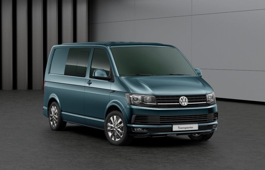 VW T6 (T30) Kombi – Highline (SWB) – Bamboo Garden Green Metallic – 150 PS 6sp Manual