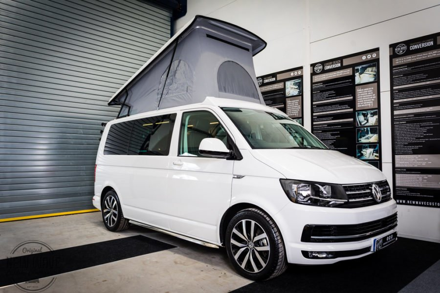 the simon 39 s vw t6 traditional lux camper conversion new wave custom conversions. Black Bedroom Furniture Sets. Home Design Ideas